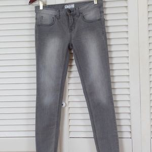 Free People Gray Wash Skinny Jeans 26